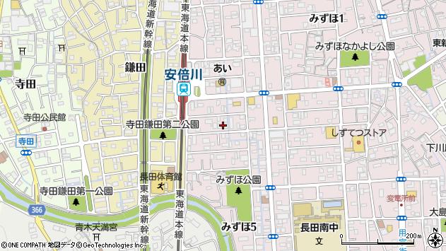 静岡県静岡市駿河区みずほ周辺の地図