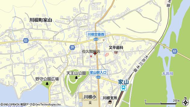 静岡県島田市川根町家山周辺の地図