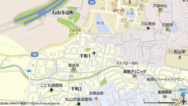 滋賀県大津市千町1丁目 地図(住所一覧から検索) :マピオン