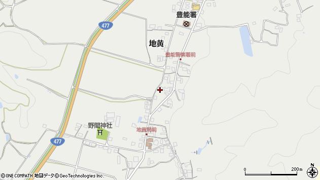 大阪府豊能郡能勢町地黄477周辺の地図