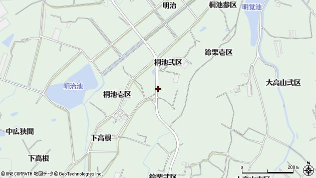 愛知県知多郡東浦町緒川桐池弐区周辺の地図