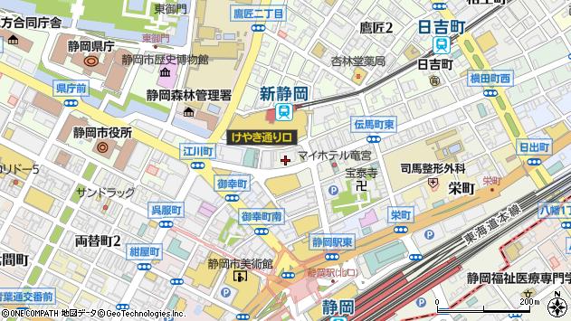 静岡県静岡市葵区伝馬町8-6周辺の地図