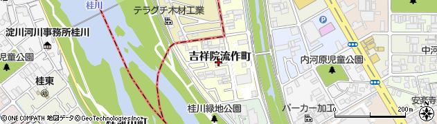 京都府京都市南区吉祥院流作町周辺の地図