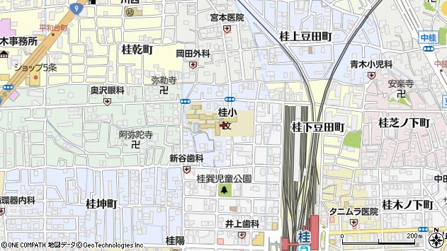 京都府京都市西京区桂巽町周辺の地図