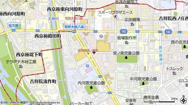 京都府京都市南区吉祥院宮ノ西町周辺の地図