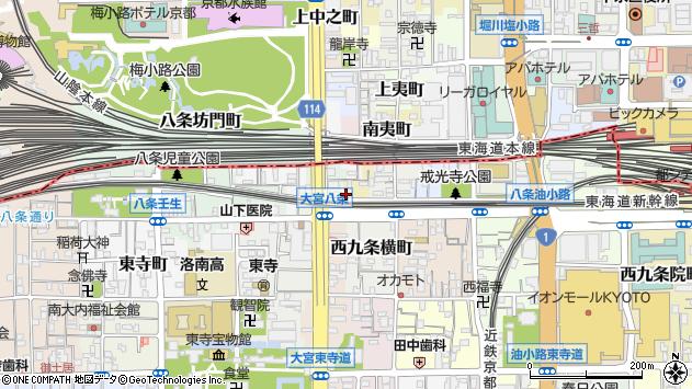 京都府京都市南区西九条小寺町周辺の地図
