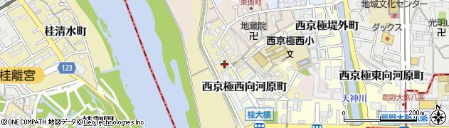 京都府京都市右京区西京極河原町周辺の地図