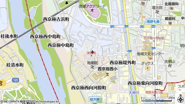 京都府京都市右京区西京極末広町周辺の地図