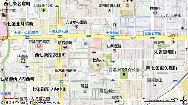 京都府京都市下京区西七条南中野町周辺の地図