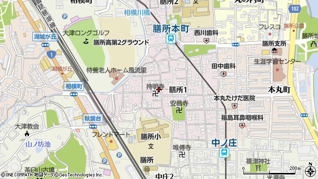 滋賀県大津市膳所1丁目周辺の地図