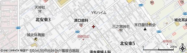 静岡県静岡市葵区北安東周辺の地図