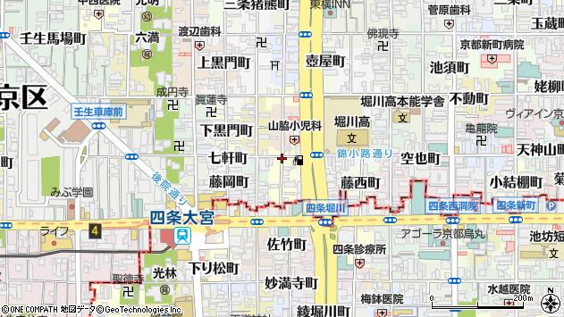 京都府京都市中京区吉野町周辺の地図