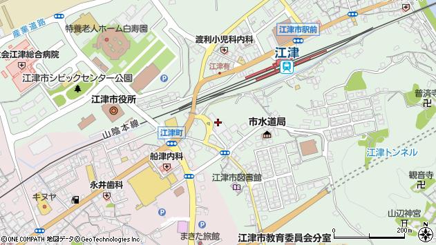 島根県江津市周辺の地図