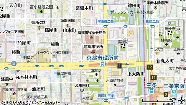 京都市周辺の地図