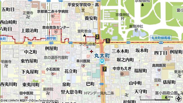 京都府京都市中京区西方寺町周辺の地図