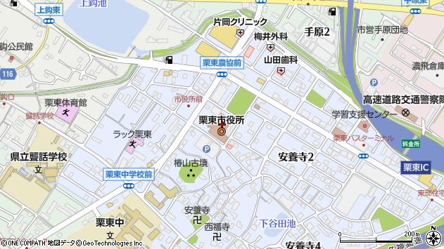 滋賀県栗東市周辺の地図
