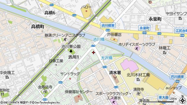 静岡県静岡市清水区渋川 地図(住所一覧から検索) :マピオン
