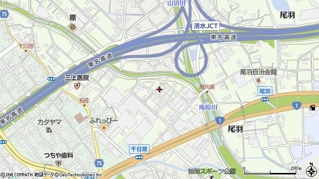 静岡県静岡市清水区尾羽周辺の地図