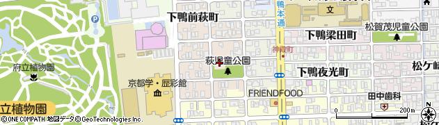 京都府京都市左京区下鴨萩ケ垣内町周辺の地図