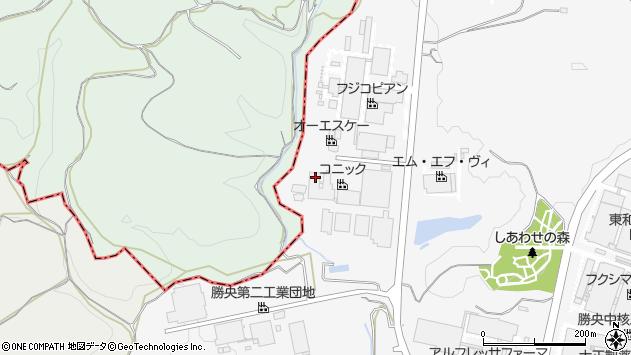 岡山県勝田郡勝央町太平台周辺の地図