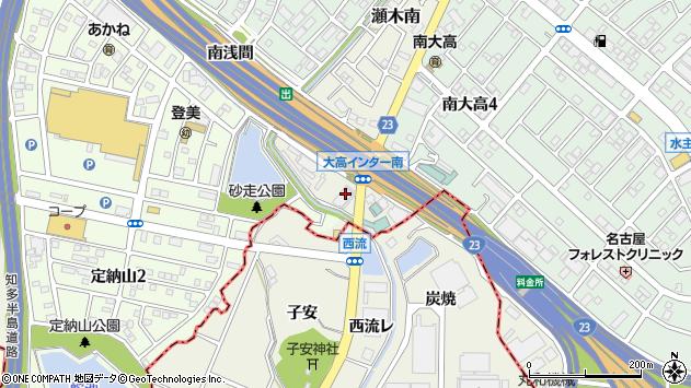愛知県名古屋市緑区大高町下西峡周辺の地図