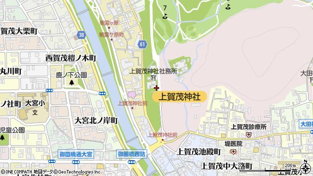 京都府京都市北区上賀茂本山339周辺の地図