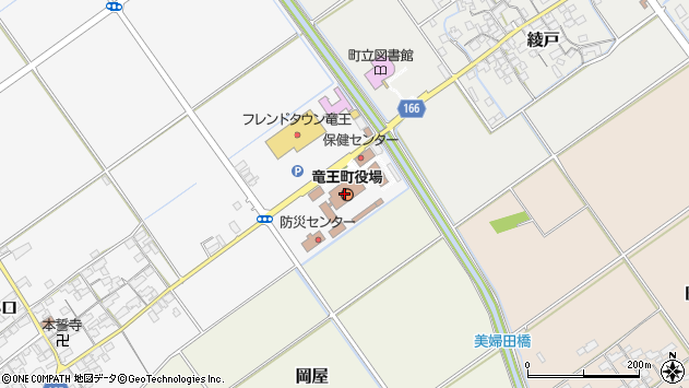 滋賀県蒲生郡竜王町周辺の地図