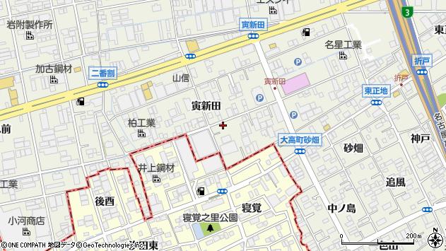 愛知県名古屋市緑区大高町寅新田周辺の地図