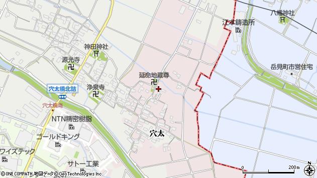 三重県員弁郡東員町筑紫周辺の地図