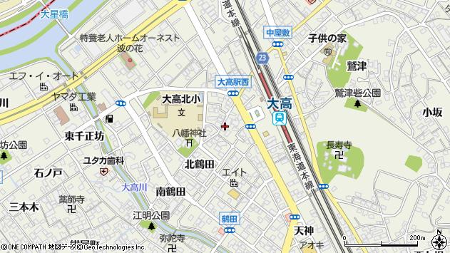 愛知県名古屋市緑区大高町下熊瀬周辺の地図