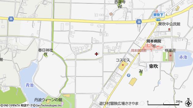 兵庫県篠山市東吹588周辺の地図