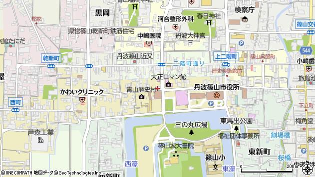 兵庫県篠山市北新町周辺の地図