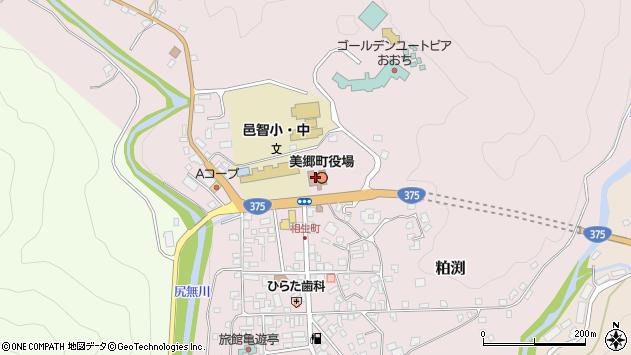 島根県邑智郡美郷町周辺の地図