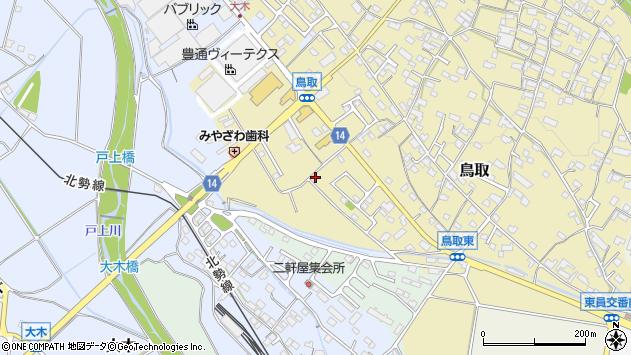 三重県員弁郡東員町鳥取周辺の地図
