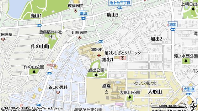 愛知県名古屋市緑区旭出1丁目周辺の地図