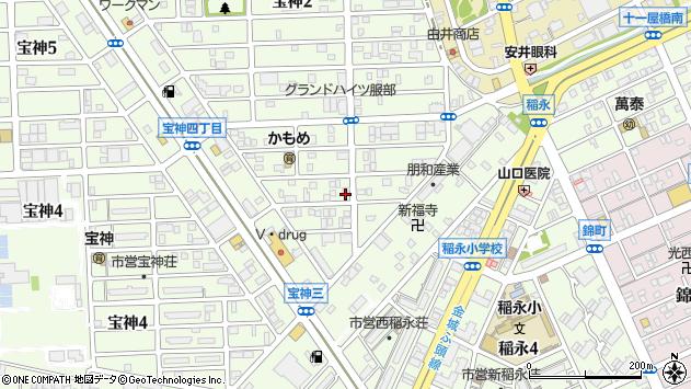 愛知県名古屋市港区宝神3丁目周辺の地図