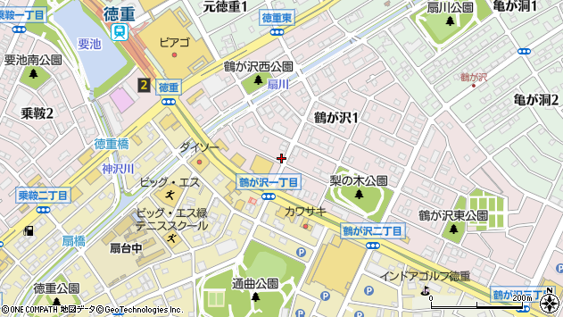 愛知県名古屋市緑区鶴が沢1丁目2011周辺の地図