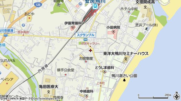 千葉県鴨川市横渚周辺の地図