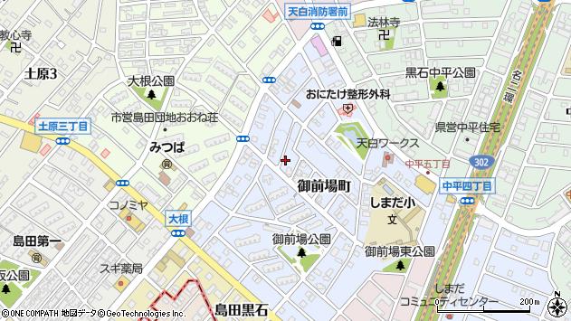 愛知県名古屋市天白区御前場町周辺の地図