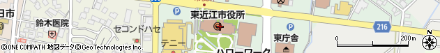 滋賀県東近江市周辺の地図