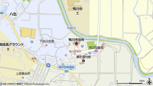 千葉県鴨川市周辺の地図