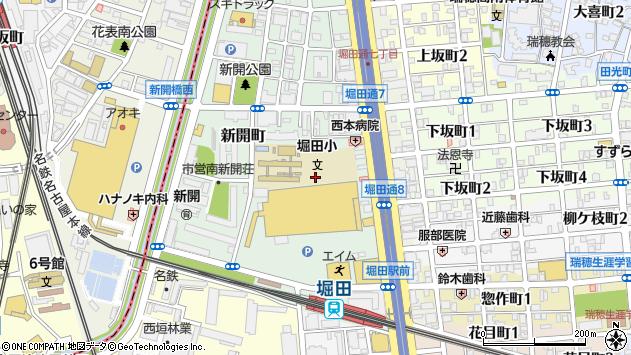愛知県名古屋市瑞穂区新開町24周辺の地図