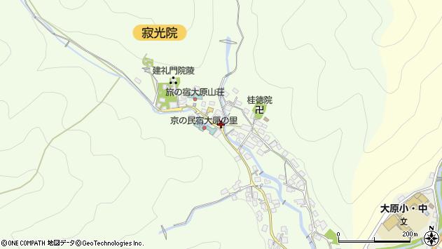 京都府京都市左京区大原草生町周辺の地図