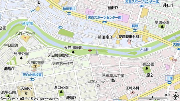 愛知県名古屋市天白区天白町大字平針川田周辺の地図
