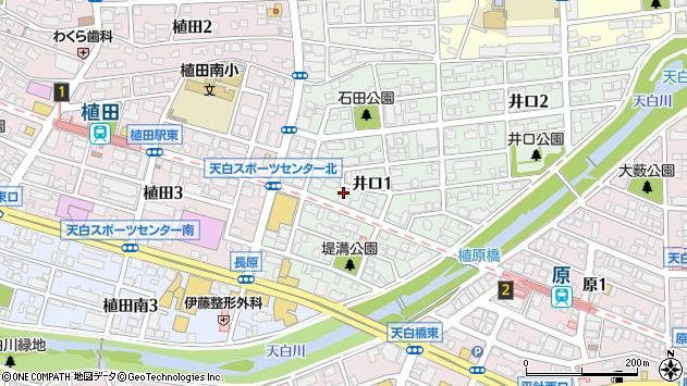 愛知県名古屋市天白区井口1丁目周辺の地図