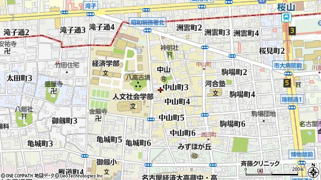 愛知県名古屋市瑞穂区中山町 地図(住所一覧から検索 ...