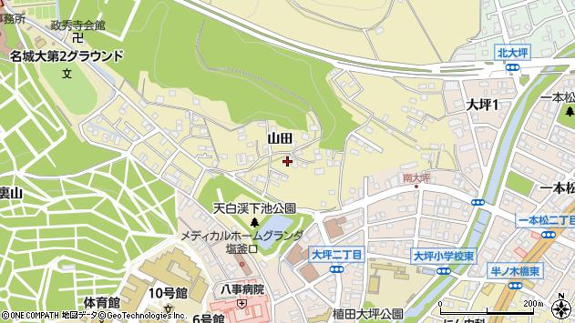 愛知県名古屋市天白区天白町大字八事山田周辺の地図