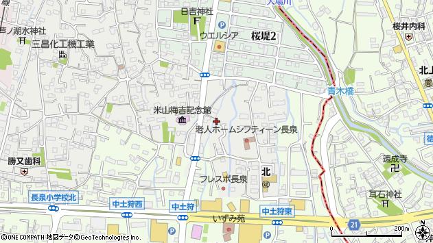 静岡県駿東郡長泉町上土狩前田周辺の地図