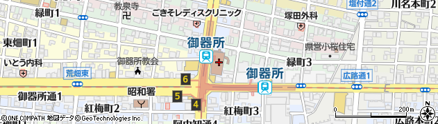 愛知県名古屋市昭和区周辺の地図