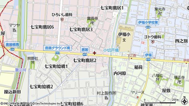 愛知県あま市七宝町鷹居周辺の地図